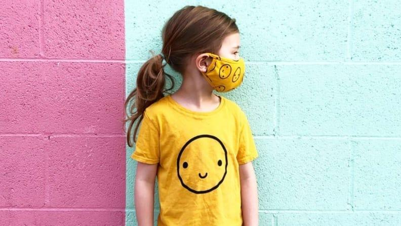 These happy face masks are sure to bring a smile to everyone your child sees.