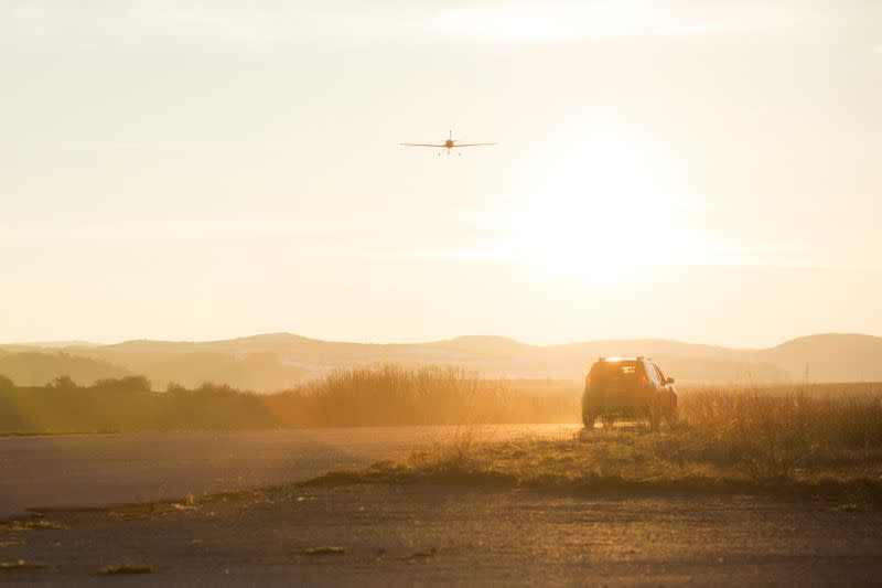 A longer range drone is seen in this handout picture