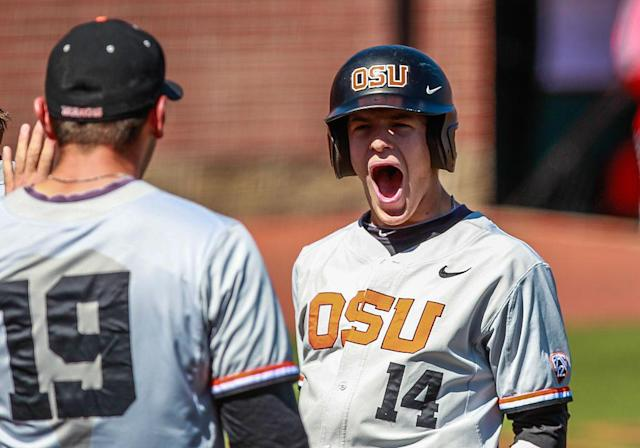 <p><strong>60. Oregon State</strong><br>Top 2017-18 sport: baseball (national champion). Trajectory: Up. The baseball title shot the Beavers up to 60th, their highest ranking of the past five years. That camouflaged plenty of shortcomings, most glaringly in the fall sports. </p>