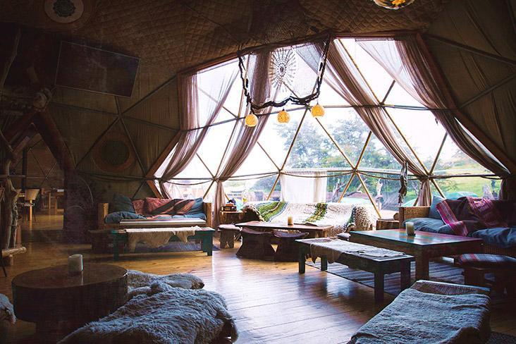 Living area inside one of the Community Domes.