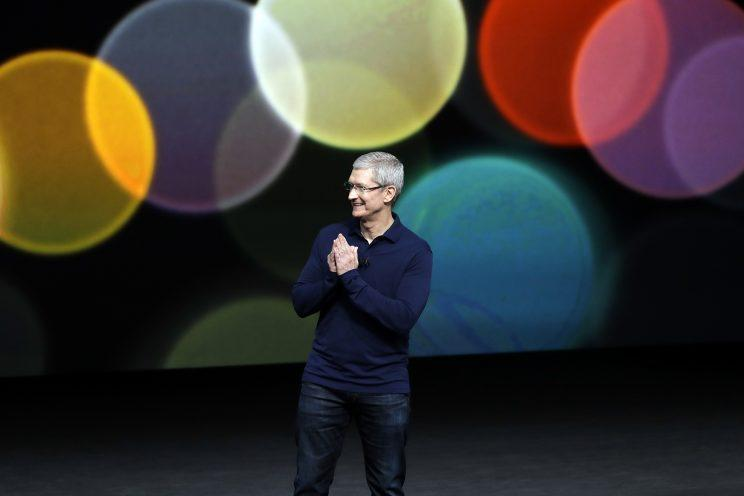 Apple CEO Tim Cook speaks during an event to announce new products on Sept. 7, 2016, in San Francisco. (Photo: Marcio Jose Sanchez/AP)