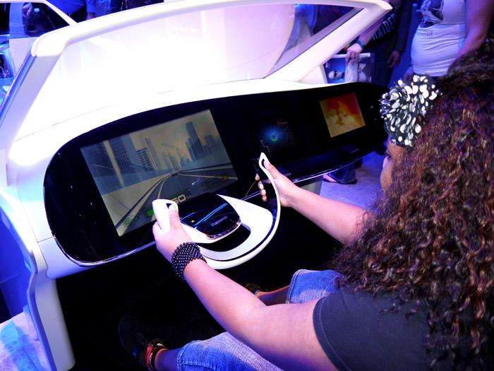 If Panasonic's concept cockpit takes hold, this could be your dashboard in a few years. (Scott Ard/Yahoo! News)