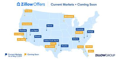 Zillow Offers map