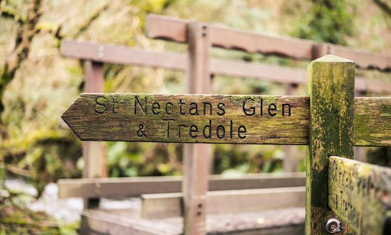 Signpost to St Nectans Glen