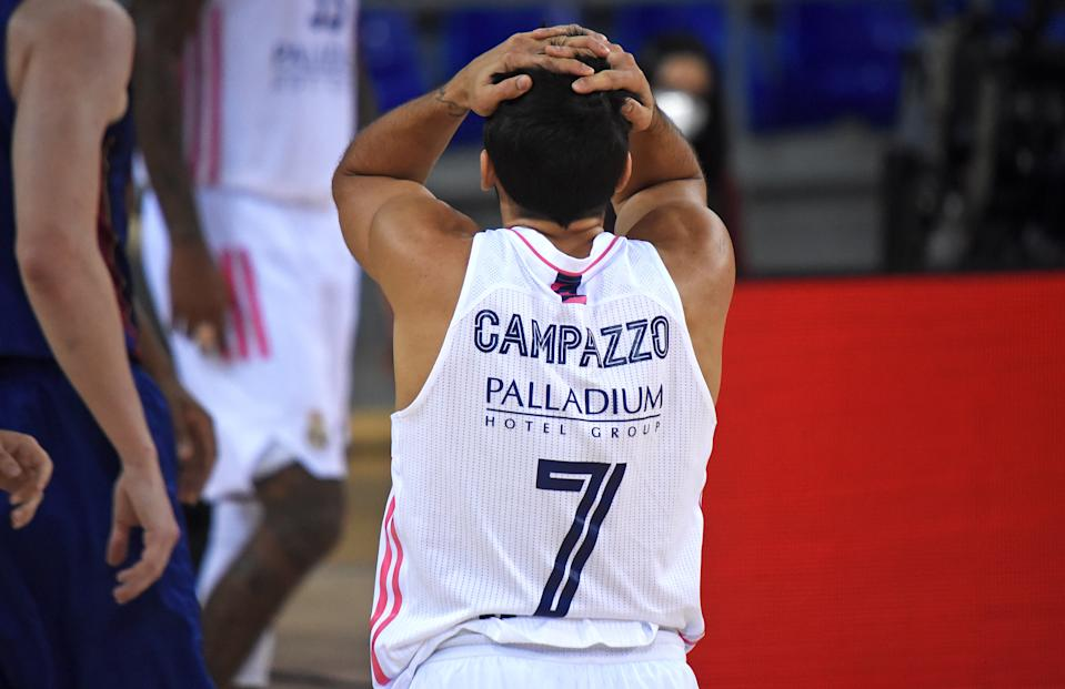 Facundo Campazzo during the match between FC Barcelona and Real Madrid, corresponding to the week 5 of the Euroleague, played at the Palau Blaugrana, on 23th October 2020, in Barcelona, Spain.  (Photo by Noelia Deniz/Urbanandsport/NurPhoto via Getty Images)