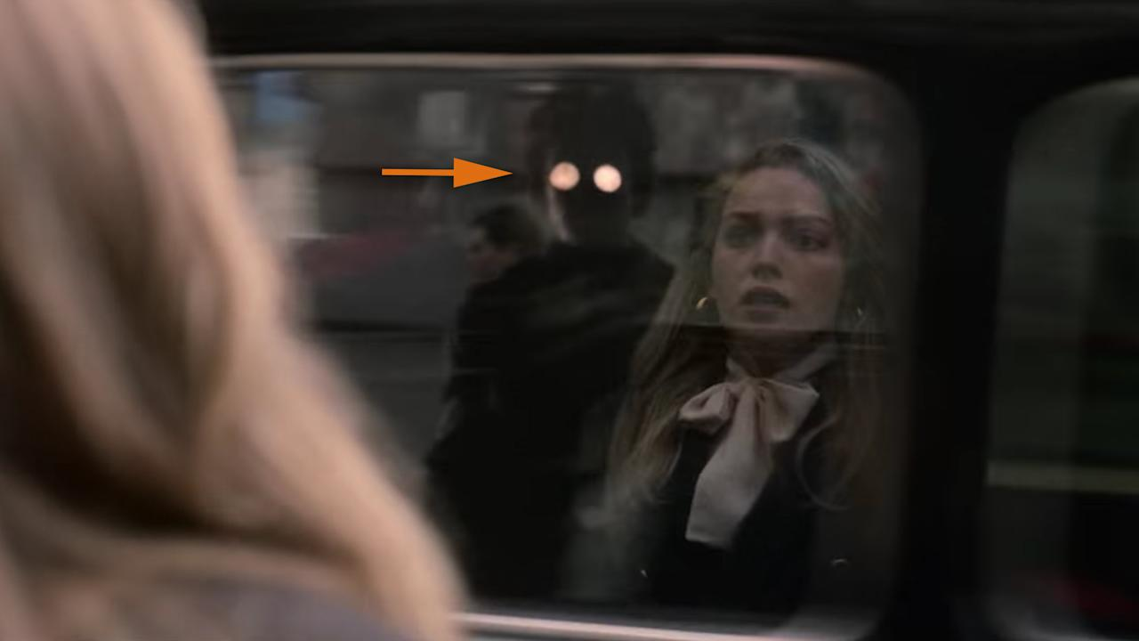 <p>                                     Eddie spotted in the reflection of a cab &#x2013; the only time we count him here.                                 </p>
