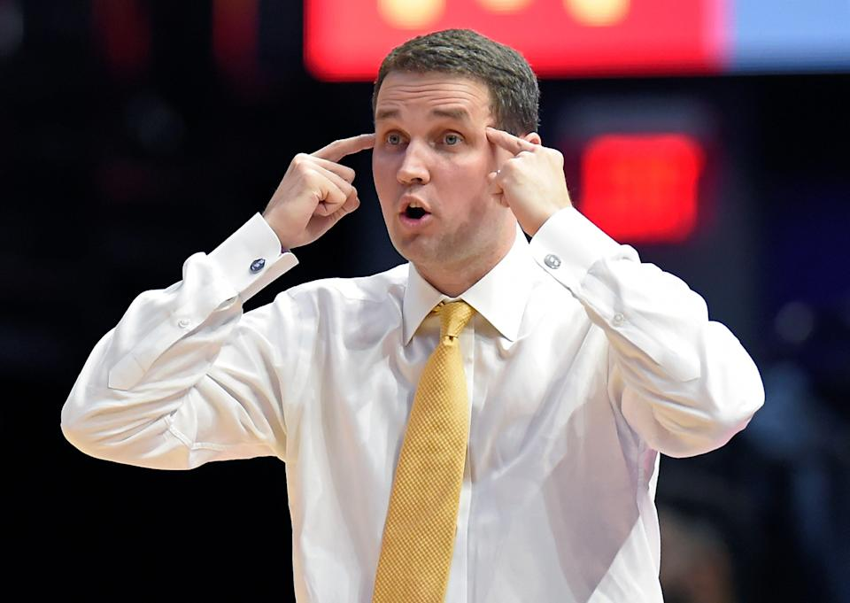 LSU head coach Will Wade missed the SEC conference tournament and NCAA tournament after he refused to meet with school officials in early March. (AP)