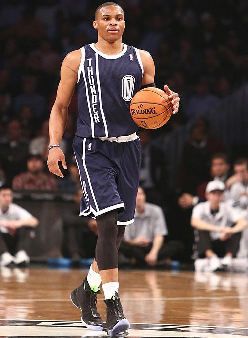 best service 59aef a51d0 Russell Westbrook debuts the Air Jordan XX8 during Thunder ...