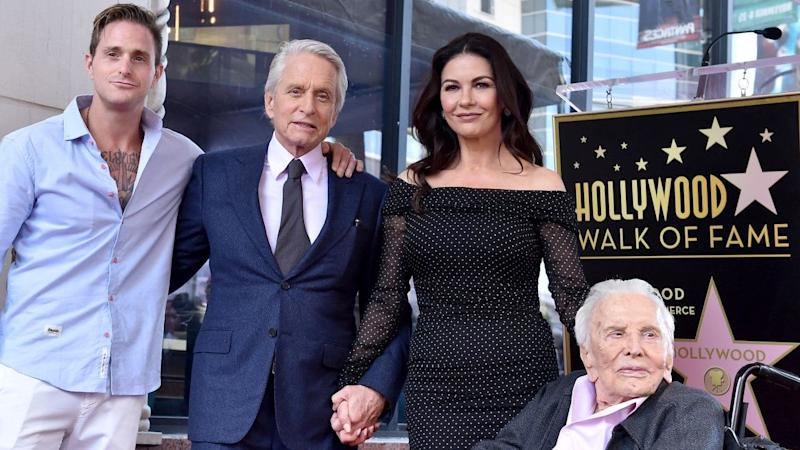 Catherine Zeta-Jones Celebrates Father-in-Law Kirk Douglas' 103rd Birthday with Throwback Shot
