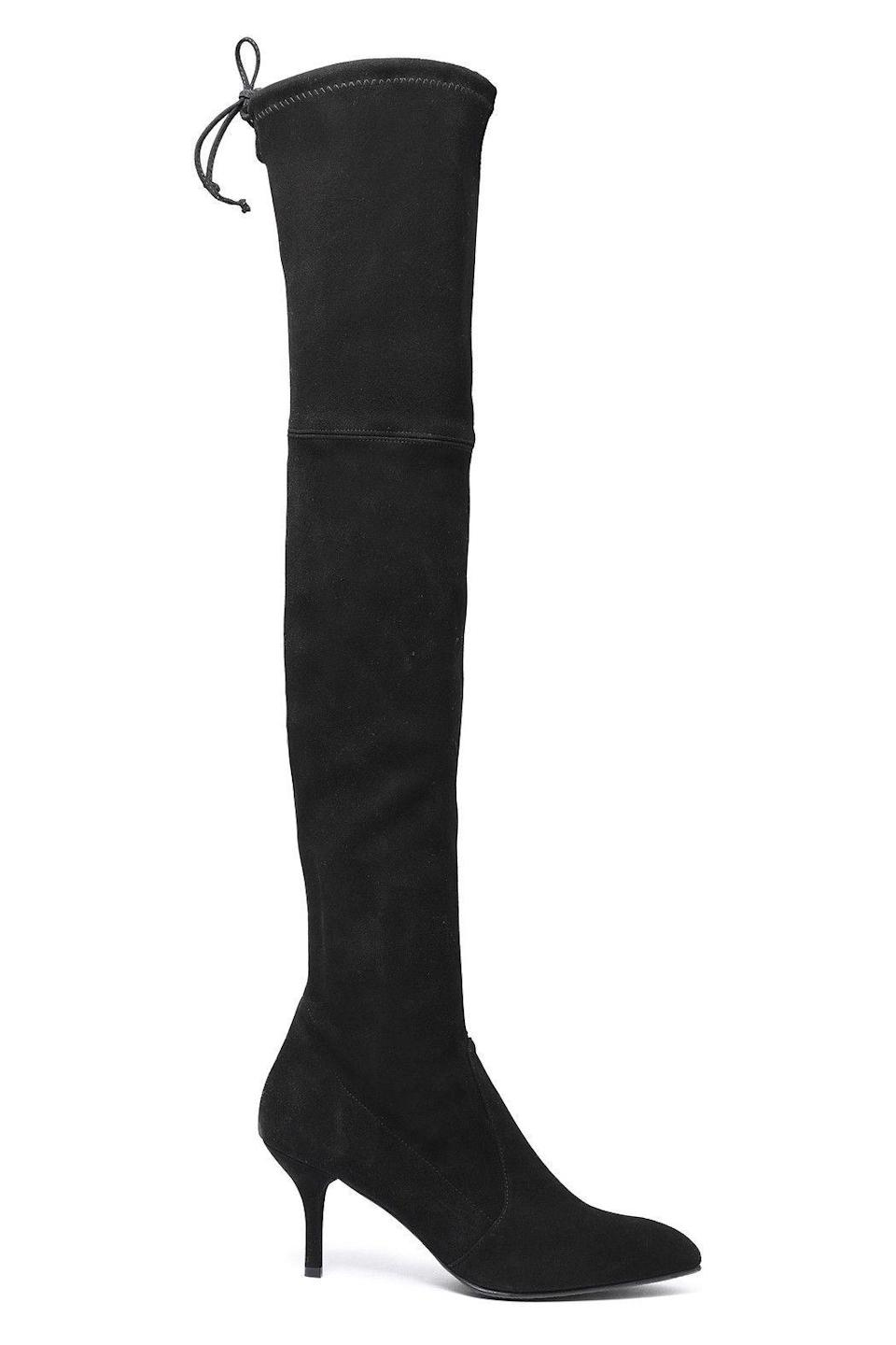 """<p><strong>STUART WEITZMAN</strong></p><p>theoutnet.com</p><p><strong>$399.00</strong></p><p><a href=""""https://go.redirectingat.com?id=74968X1596630&url=https%3A%2F%2Fwww.theoutnet.com%2Fen-us%2Fshop%2Fproduct%2Fstuart-weitzman%2Fboots%2Fmid-heel-boots%2Fbow-detailed-suede-over-the-knee-boots%2F2243576767547969&sref=https%3A%2F%2Fwww.redbookmag.com%2Ffashion%2Fg34807151%2Fthe-outnets-black-friday-sale-2020%2F"""" rel=""""nofollow noopener"""" target=""""_blank"""" data-ylk=""""slk:Shop Now"""" class=""""link rapid-noclick-resp"""">Shop Now</a></p><p>It's OTK season, people, and no one does them better than Stuart Weitzman.</p>"""