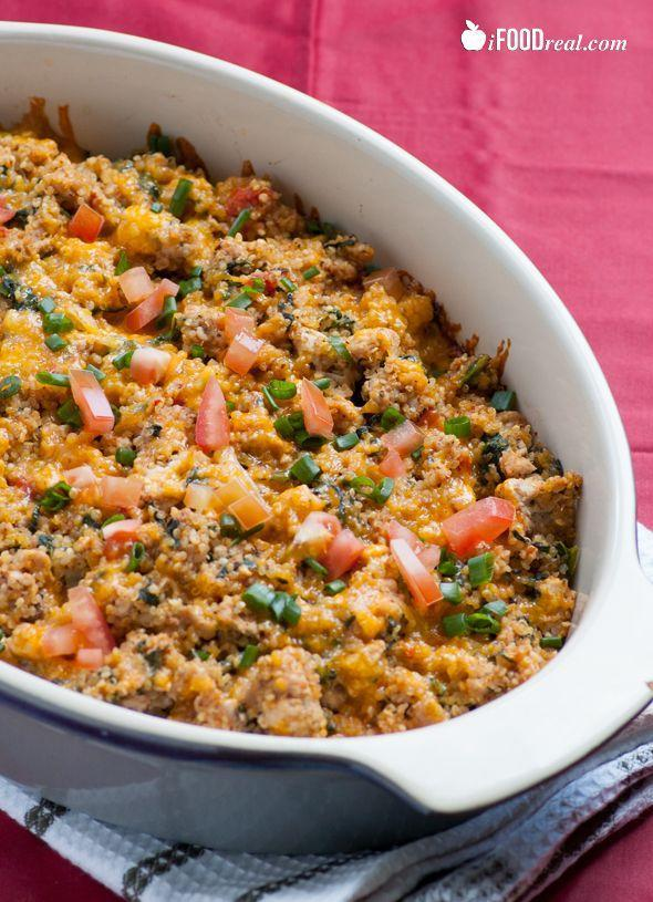 "<p>This casserole is packed with all the things that are good for you.</p><p>Get the recipe from <a href=""http://ifoodreal.com/turkey-spinach-quinoa-casserole/"" rel=""nofollow noopener"" target=""_blank"" data-ylk=""slk:iFoodReal"" class=""link rapid-noclick-resp"">iFoodReal</a>.</p>"