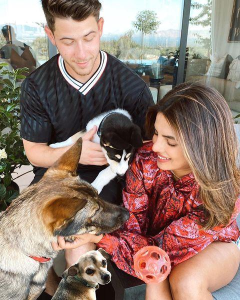 """<p>Priyanka Chopra and Nick Jonas have spent their quarantine <a href=""""https://www.etonline.com/priyanka-chopra-talks-the-really-difficult-part-of-quarantining-with-husband-nick-jonas-149050"""" rel=""""nofollow noopener"""" target=""""_blank"""" data-ylk=""""slk:posing for Vogue"""" class=""""link rapid-noclick-resp"""">posing for <em>Vogue</em></a> and <a href=""""https://www.instagram.com/p/CDos38uDJ_D/"""" rel=""""nofollow noopener"""" target=""""_blank"""" data-ylk=""""slk:rescuing puppies"""" class=""""link rapid-noclick-resp"""">rescuing puppies</a>. NBD. But what Nick enjoys most is spending time with his wife of almost two years. </p><p>""""[We] only got married like a year ago and a half ago, so it's been nice to actually have some time at home together, which we didn't have,"""" <a href=""""https://www.etonline.com/jonas-brothers-say-they-appreciate-getting-to-spend-time-with-their-wives-during-quarantine-146622"""" rel=""""nofollow noopener"""" target=""""_blank"""" data-ylk=""""slk:Nick said"""" class=""""link rapid-noclick-resp"""">Nick said</a>. """"Similarly, she's really busy as well in this time, and we're working from home. So we have that time where it's sort of structured. Like, we work out together, do our thing, and then do our work and come back and have our nights together and it's really lovely.""""</p><p><a href=""""https://www.instagram.com/p/CDos38uDJ_D/"""" rel=""""nofollow noopener"""" target=""""_blank"""" data-ylk=""""slk:See the original post on Instagram"""" class=""""link rapid-noclick-resp"""">See the original post on Instagram</a></p>"""