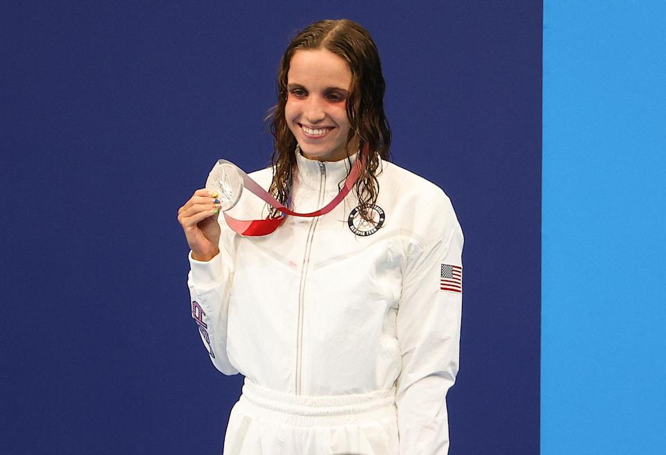 """<p>Biography: 19 years old</p> <p>Event: Women's 200m butterfly (swimming)</p> <p>Quote: """"I never really thought I'd make it to the Olympics in the butterfly so I'm psyched.""""</p>"""
