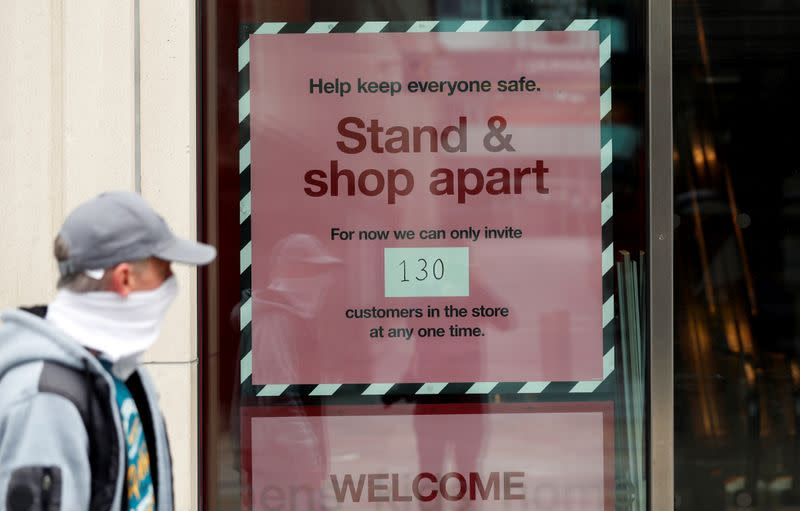 Visitors to UK shops remained more than 80% lower in May