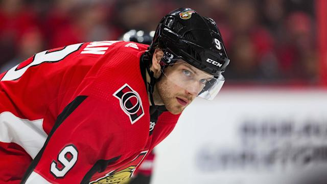 Bobby Ryan of the Ottawa Senators had a picturesque return to the Canadian Tire Centre. (Photo by Richard A. Whittaker/Icon Sportswire via Getty Images)