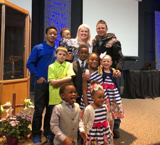 PHOTO: Gabrielle Fessenden and Shannon Fessenden adopted Jordan, 15, Jay, 10, Myah, 9, Jericho, 5, Briella 4 and Mason, 2. The brothers and sisters join the Fessendens' biological children, Scott, 11 and Giana, 8. (The Fessenden Family )