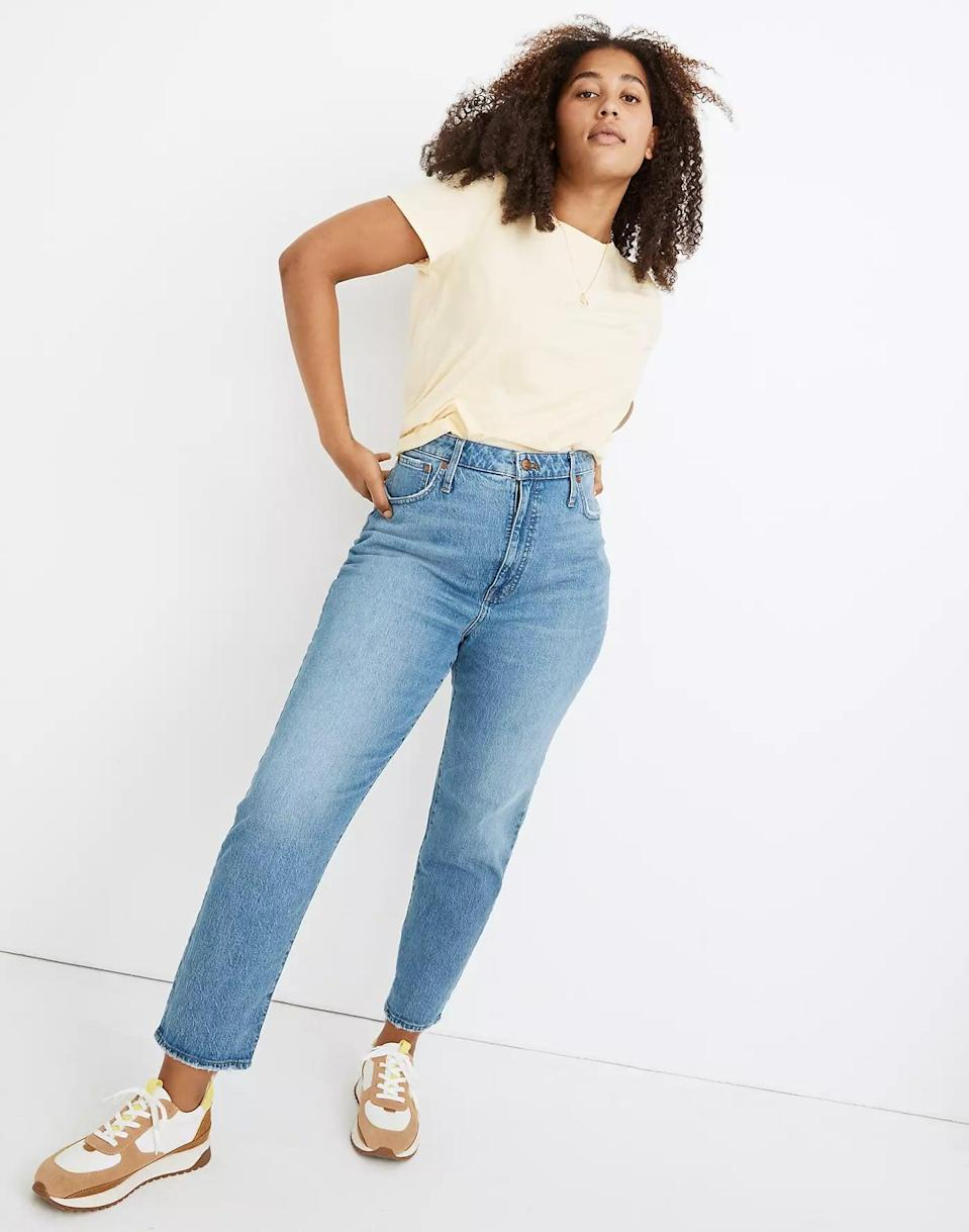 <p>These casual cool <span>Madewell Classic Straight Full-Length Jeans</span> ($128) go with everything.</p>