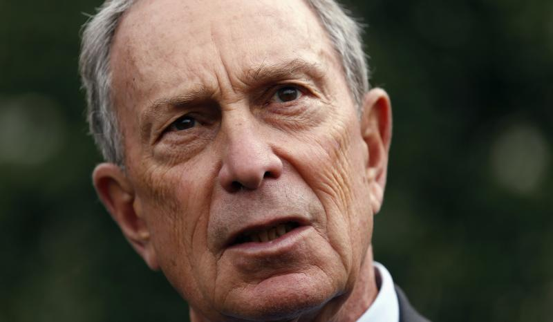 New York Mayor Bloomberg speaks to reporters after his meeting regarding gun violence with U.S. Vice President Biden, at the White House in Washington