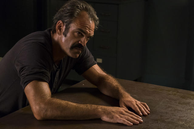 Steven Ogg as Simon in <em>The Walking Dead</em> (Photo Credit: Gene Page/AMC)