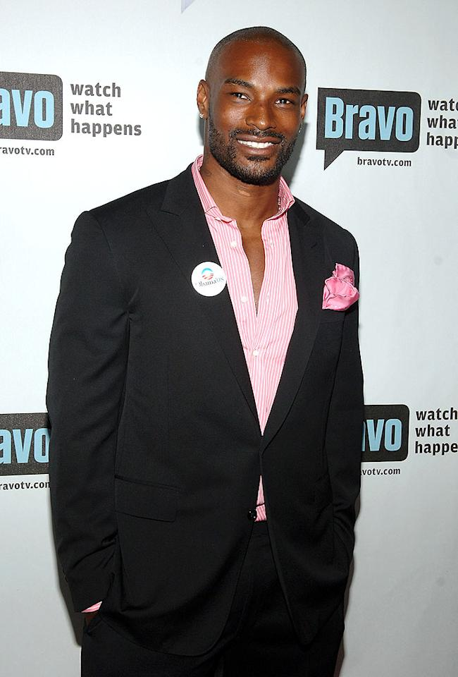 """With or without whiskers, Tyson Beckford is truly divine. Jamie McCarthy/<a href=""""http://www.wireimage.com"""" target=""""new"""">WireImage.com</a> - June 4, 2008"""