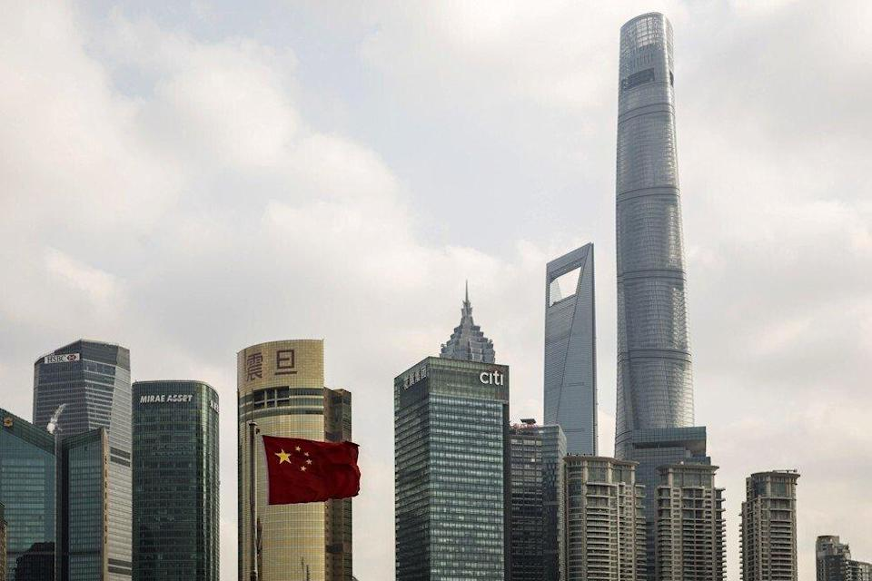 The Shanghai Tower towering over surrounding skyscrapers in the Lujiazui financial area in the Pudong District of Shanghai on December 28, 2018. Photo: Bloomberg