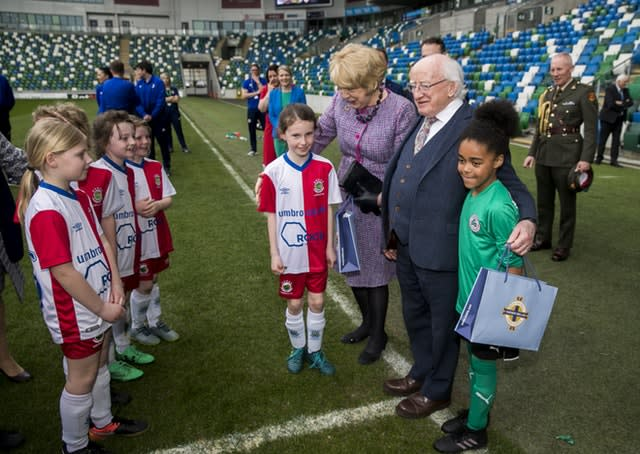 Michael D. Higgins visits Windsor Park