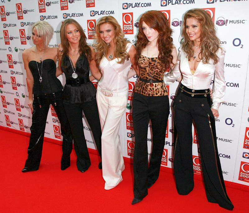Girls Aloud attend the 2006 Q Awards at London's Grosvenor House Hotel.Picture: UK Press