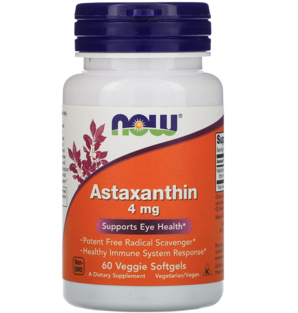 Now Foods, Astaxanthin, 4 mg, 60 Veggie Softgels, ₱474.79. PHOTO: iHerb