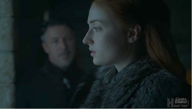 Aiden Gillen with Sophie Turner in <em>Game of Thrones.</em> (Photo: HBO)