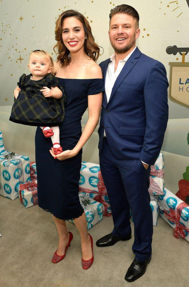 Christy Carlson Romano, Brendan Rooney and their daughter Isabella