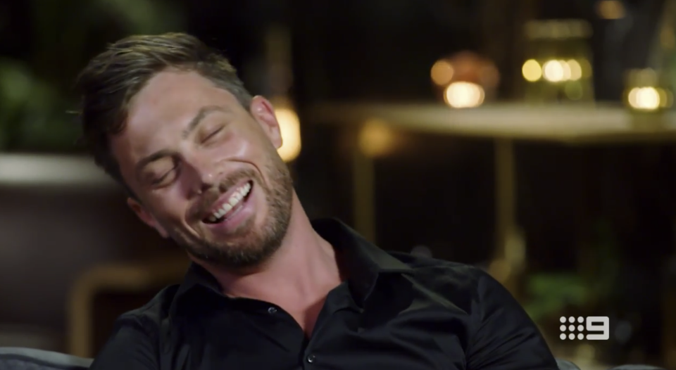 Jason was left red-faced on the MAFS couch