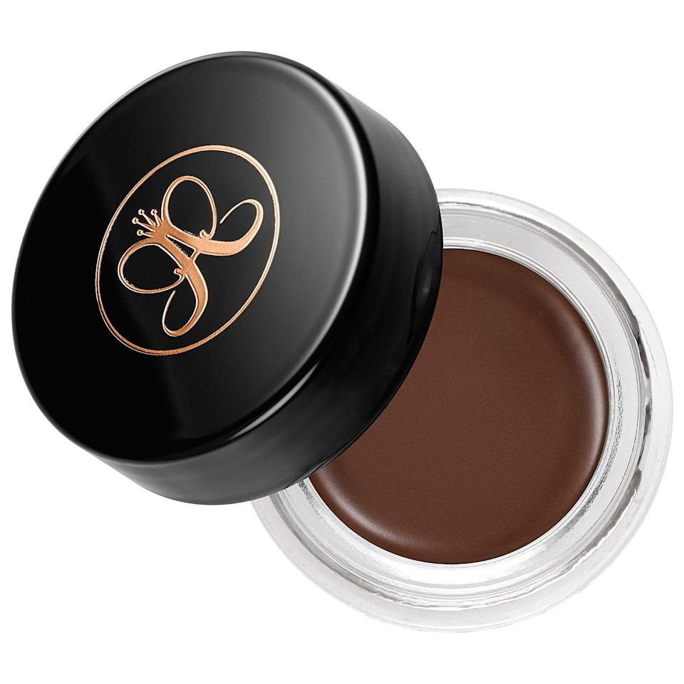 "<p>Used with an angled brush, the thicker formula of the <a href=""https://www.popsugar.com/buy/Anastasia-Beverly-Hills-Dipbrow-Pomade-584134?p_name=Anastasia%20Beverly%20Hills%20Dipbrow%20Pomade&retailer=sephora.com&pid=584134&price=21&evar1=bella%3Aus&evar9=41950877&evar98=https%3A%2F%2Fwww.popsugar.com%2Fbeauty%2Fphoto-gallery%2F41950877%2Fimage%2F41950887%2FAnastasia-Beverly-Hills-Dipbrow-Pomade&list1=makeup%2Ceyebrows%2Cbeauty%20shopping%2Canastasia%20beverly%20hills&prop13=mobile&pdata=1"" class=""link rapid-noclick-resp"" rel=""nofollow noopener"" target=""_blank"" data-ylk=""slk:Anastasia Beverly Hills Dipbrow Pomade"">Anastasia Beverly Hills Dipbrow Pomade</a> ($21) sculpts more pronounced, defined eyebrows. Since it's waterproof, the pomade is the type of no-fuss product you can easily wear all day without touching up.</p>"