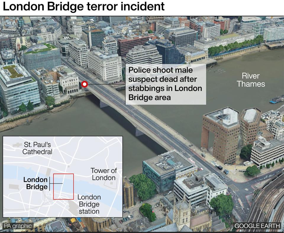 Details of where the attack took place. (PA)
