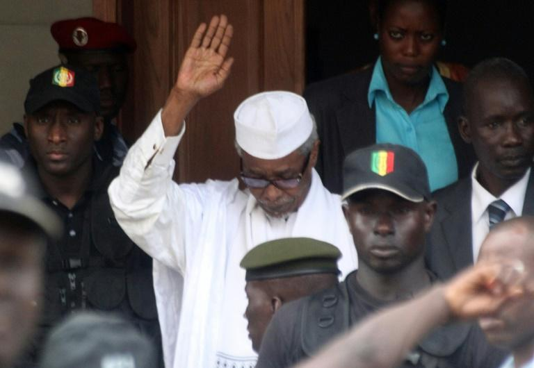 Habre, pictured in 2013 while leaving a court in Dakar. Tens of thousands of Chadians died under his rule, say investigators