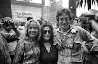 John Lennon and wife Yoko Ono at the Cannes Film Festival in 1971