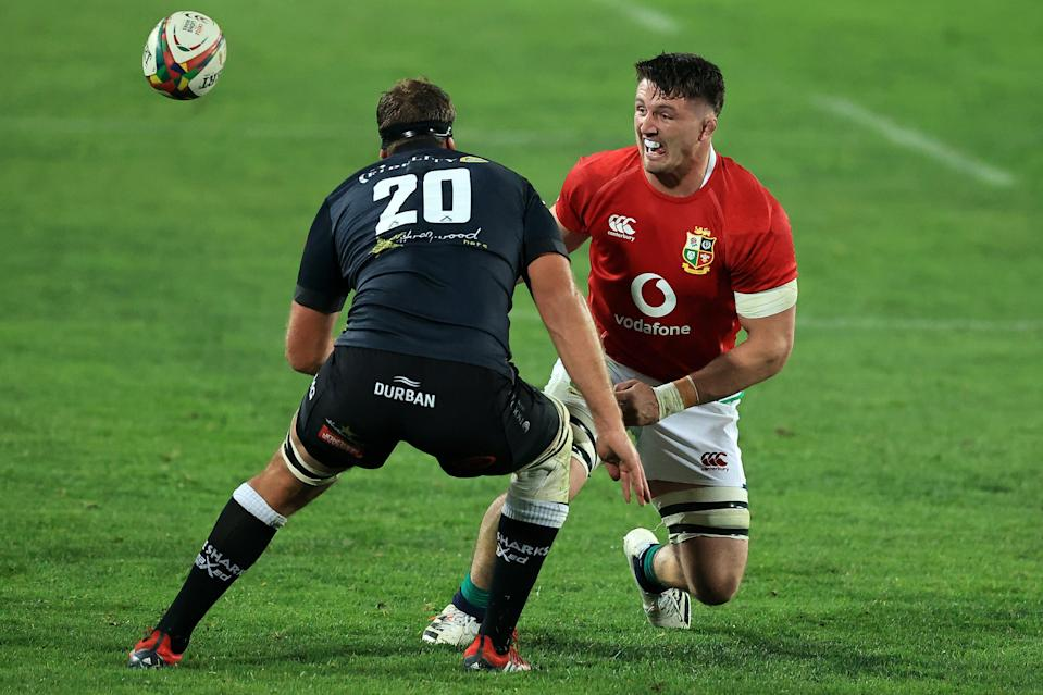 Tom Curry in the Lions' first game against the Sharks on Wednesday (Getty Images)