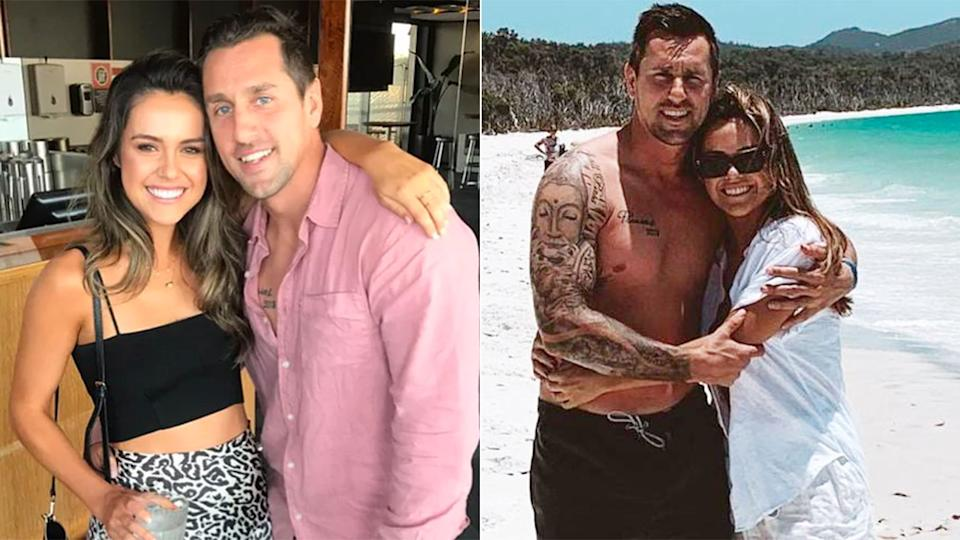 Scott and Pearce featured in a series of loved-up photos before the controversy.