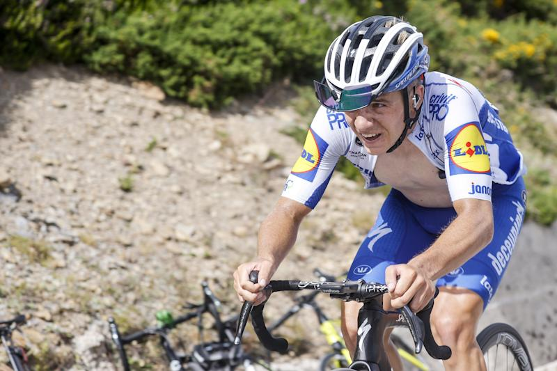 Deceuninck-QuickStep's Remco Evenepoel races to victory on stage 3 of the 2020 Vuelta a Burgos to take the overall lead
