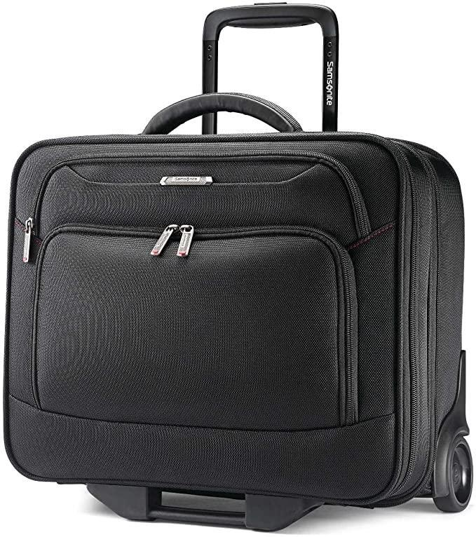 """<h2>Best Rolling Luggage For Short Commutes<br></h2><br><h3>Samsonite Xenon 3.0 Mobile Office<br></h3><br>For professionals constantly on business trips, hot deskers, and extra-prepared commuters, this mobile office is perfect for toting around your belongings hassle-free. <br><br><strong>The Hype</strong>: 4.5 out of 5 stars and 170 reviews<br><br><strong>Out Of Towners say</strong>: """"Everything fits, and the bag fits under the seat in front! I am able to carry my notebook, tablet, books, magazines, headphones, cords, everything in one bag. The wheels and handle make it so easy to glide through airports.""""<br><br><em>Shop <a href=""""https://amzn.to/37pP8EG"""" rel=""""nofollow noopener"""" target=""""_blank"""" data-ylk=""""slk:Samsonite"""" class=""""link rapid-noclick-resp""""><strong>Samsonite</strong></a></em><br><br><strong>Samsonite</strong> Xenon 3.0 Mobile Office, $, available at <a href=""""https://amzn.to/3CoygwC"""" rel=""""nofollow noopener"""" target=""""_blank"""" data-ylk=""""slk:Amazon"""" class=""""link rapid-noclick-resp"""">Amazon</a>"""