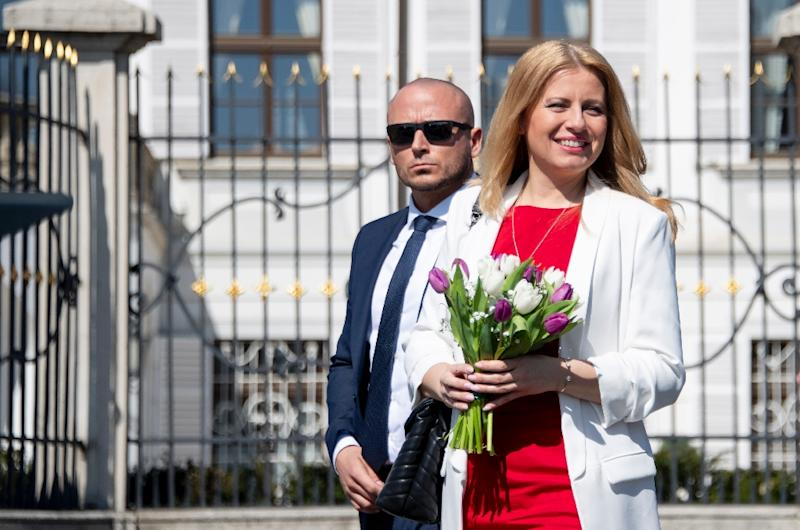 Caputova, a 45-year-old environmental lawyer, won a clear victory Saturday over the ruling party's candidate (AFP Photo/JOE KLAMAR)