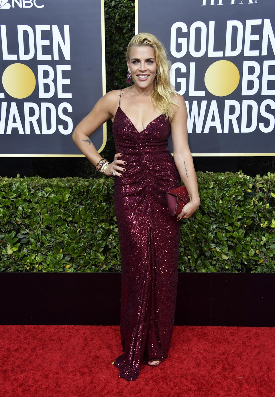 "<h1 class=""title"">Busy Philipps in Monique Lhuillier</h1><cite class=""credit"">Photo: Getty Images</cite>"