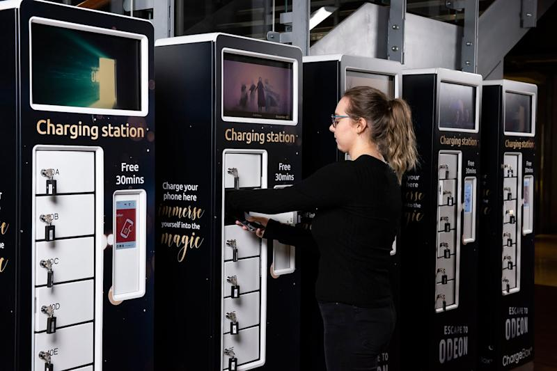 You'll be able to put your phone in a charging station. [Photo: Odeon]
