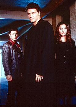 Glenn Quinn, David Boreanaz and Charisma Carpenter in WB's Angel