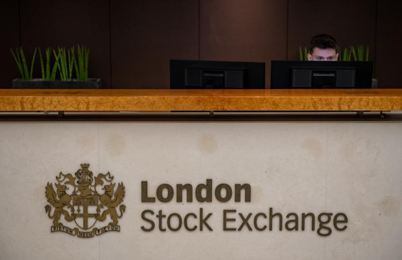 LONDON, ENGLAND - AUGUST 29: A reception desk at London Stock Exchange on August 29, 2019 in London, England. The pound has come under renewed pressure after the government moved to prorogue parliament for five weeks, fueling fears of a no-deal Brexit. (Photo by Chris J Ratcliffe/Getty Images)