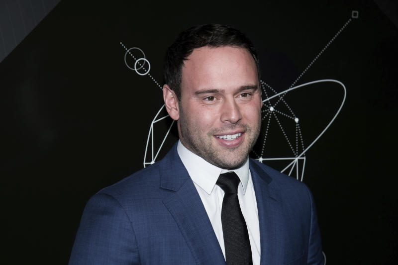 Scooter Braun attends the 10th anniversary Pencils of Promise gala at the Duggal Greenhouse on Wednesday, Oct. 24, 2018, in New York. (Photo by Charles Sykes/Invision/AP)