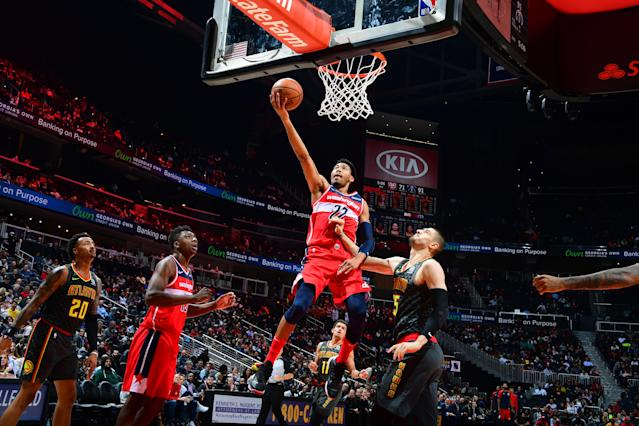 Otto Porter Jr. and the Wizards beat the Hawks 131-117 Wednesday night. (Getty Images)