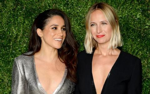 Meghan Markle and Misha Nonoo in 2015 - Credit: Getty