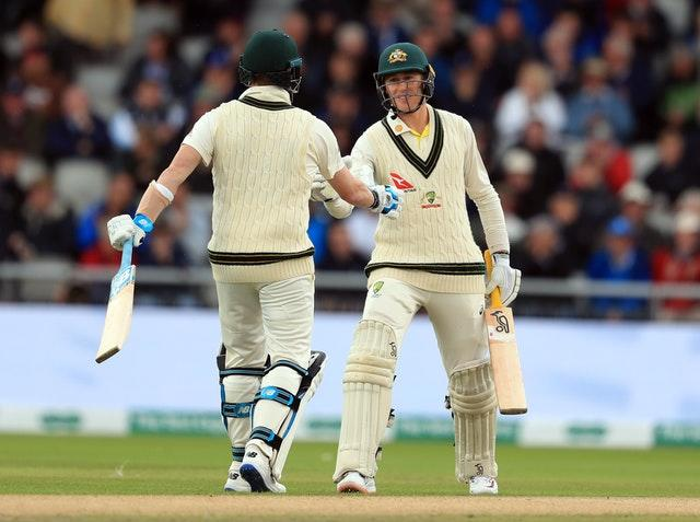 Marnus Labuschagne, right, came to prominence during the 2019 Ashes series in England