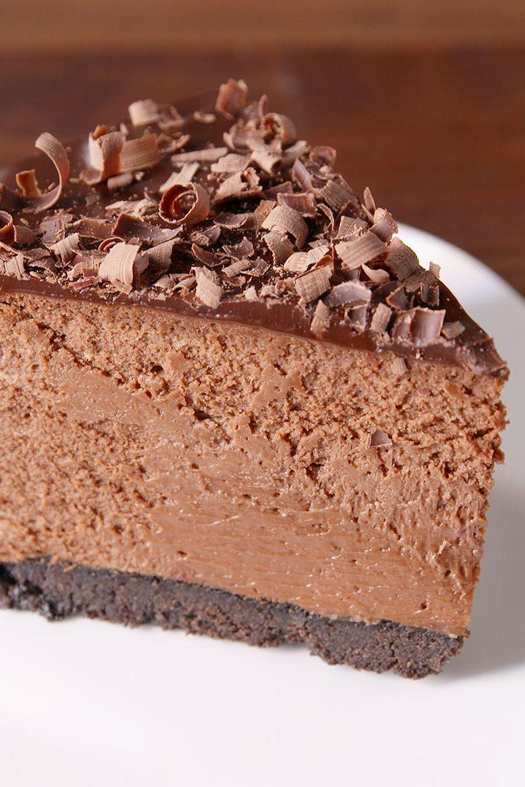 """<p>SO. MUCH. CHOCOLATE.</p><p>Get the recipe from <a href=""""https://www.delish.com/cooking/recipe-ideas/recipes/a50419/death-by-chocolate-cheesecake-recipe/"""" rel=""""nofollow noopener"""" target=""""_blank"""" data-ylk=""""slk:Delish"""" class=""""link rapid-noclick-resp"""">Delish</a>. </p>"""