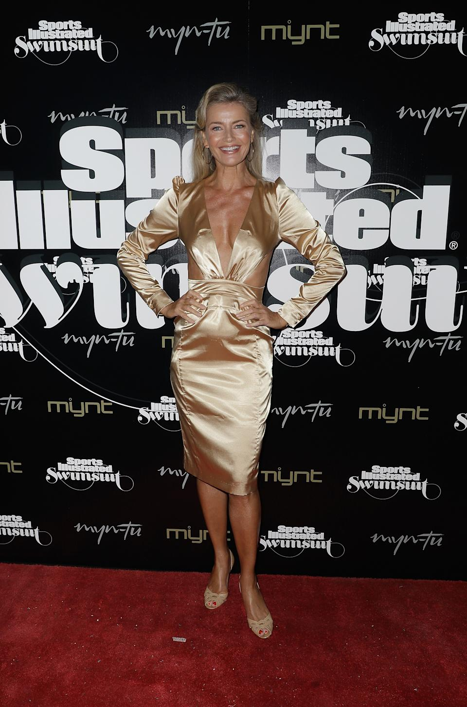 MIAMI, FL - MAY 11:  Paulina Porizkova attends the Sports Illustrated Swimsuit Celebrates 2019 Issue Launch at Myn-Tu on May 11, 2019 in Miami, Florida.  (Photo by John Parra/Getty Images for Sports Illustrated)
